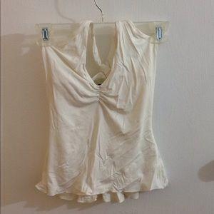 Bebe O women's size XS white tank top